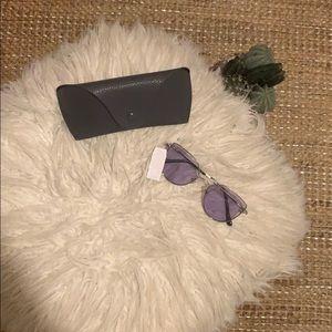 DIFF Sunglasses- Purple/Blue Lense